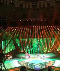 成都汉语桥租赁LED屏的现场施工及效果